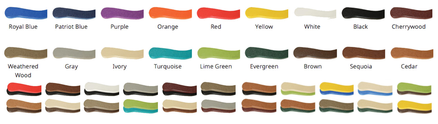 Two Tone Combinations Of The Listed Colors