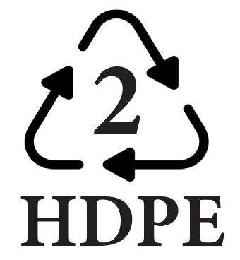 2 HDPE recycle symbol