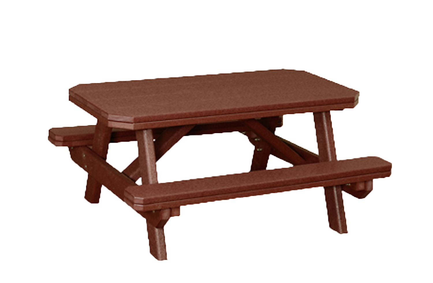 Child's Traditional Picnic Table with attached Benches