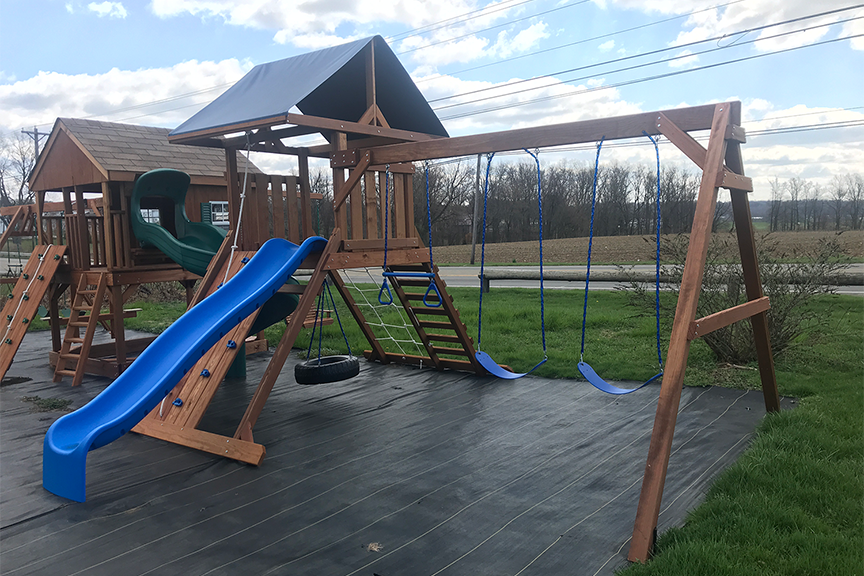 outdoor play systems climbing tower amish built playset