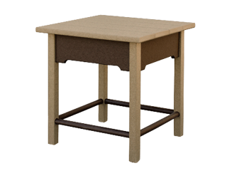 vanburen end table amish made lancaster county