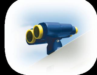 blue binoculars recycled playsets vinyl plastic lancaster and york counties