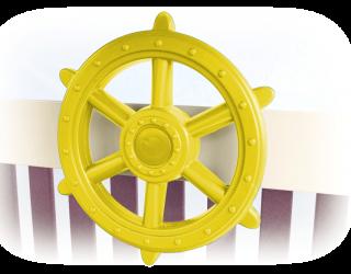yellow ship's wheel