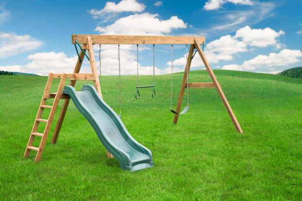 freestanding a frame swing set