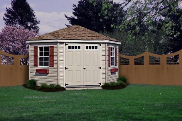 corner nook shed