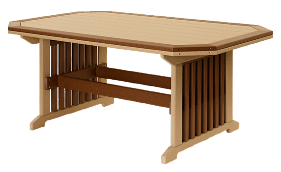 recycled poly mission table with border