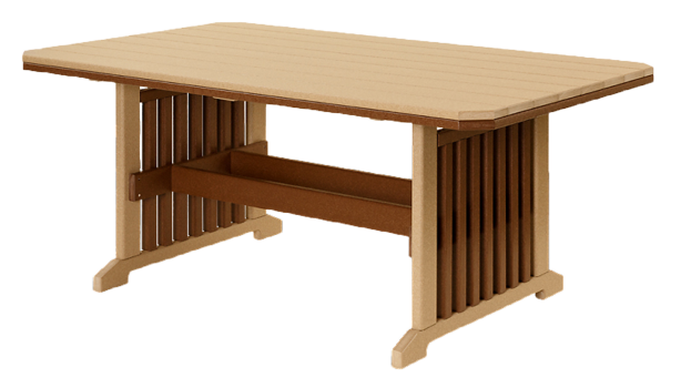 recycled poly mission table set