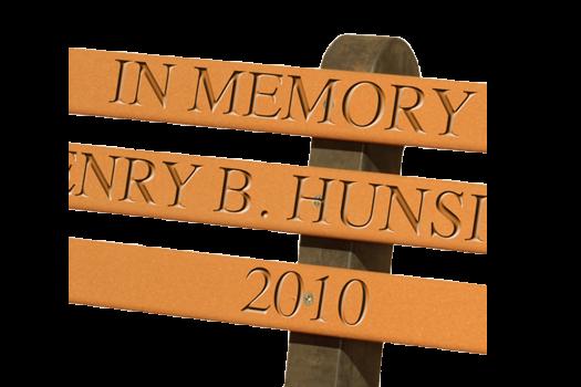 engraving memorial in memory of lasting tribute