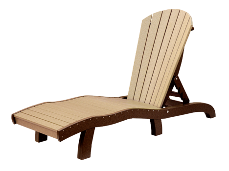 recycled poly seaaira chaise lounge adjustable without arms