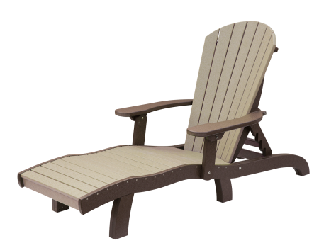recycled poly seaaira chaise lounge adjustable with arms