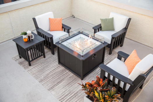 recycled poly fire pit