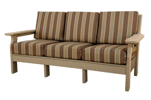 deep seating poly sofa amish made lancaster county