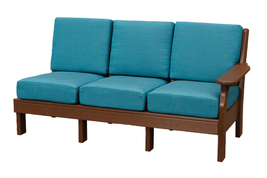 deep seating poly recycled sectional sunbrella fabric