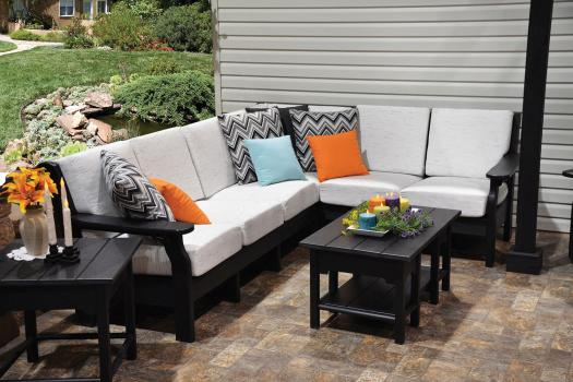 deep seating sectional recycled plastic poly