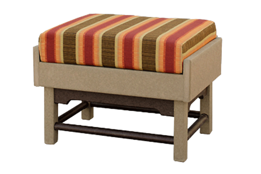 deep seating ottoman poly recycled outdoor furniture