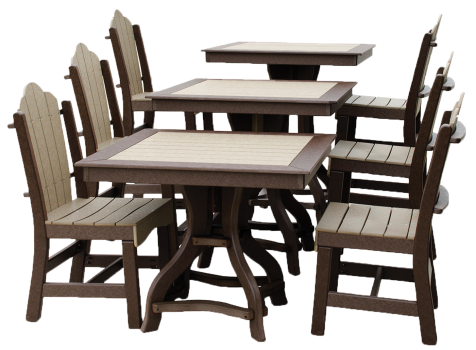 Square patio tables poly furniture lancaster york pa for Outdoor furniture york pa