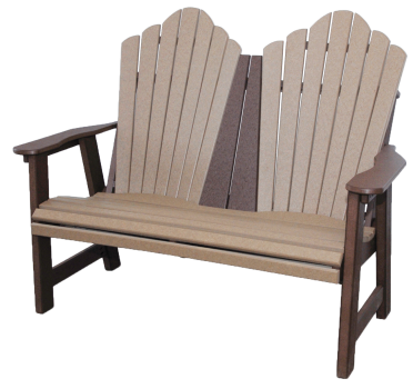 4' daisy garden bench recycled poly