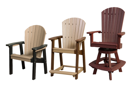 recycled poly great bay chairs and swivel amish made lancaster county