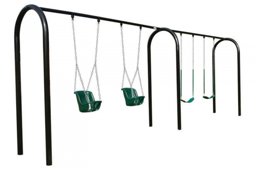 swing kingdom commercial playset playground swing frame metal parks, schools, churches, HOA's, boroughs, clubs