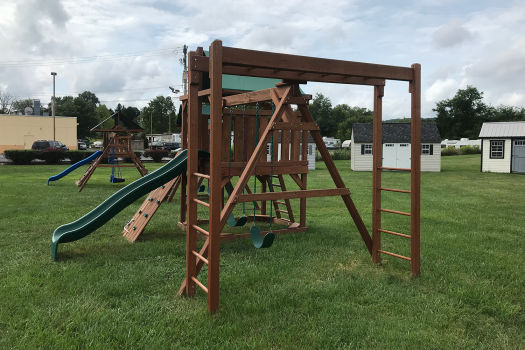 wooden playset contemporary rockwall amish made lancaster county