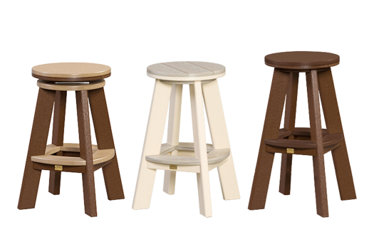 recycled poly furniture great bay stools