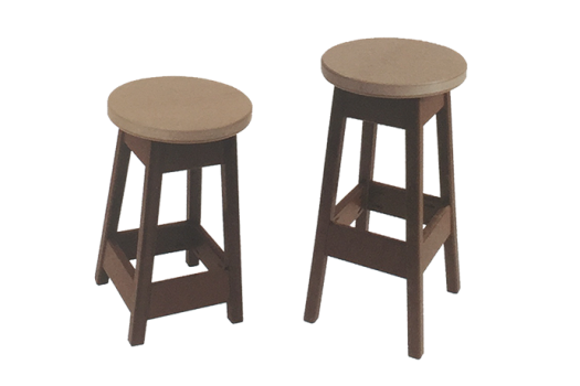 patio stool collection amish made recycled plastic poly
