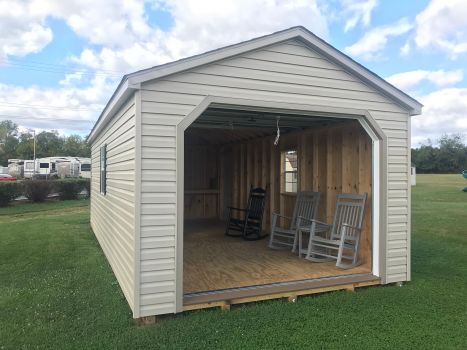 workshop with garage and workbench lancaster county built