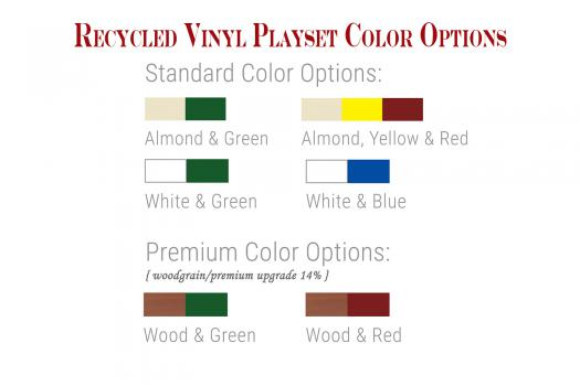 recycled vinyl playset color options playground