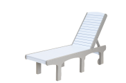 recycled poly sunsurf chaise lounge adjustable