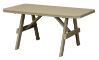 garden poly table amish made recycled poly