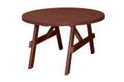 recycled poly round garden table amish made lancaster county