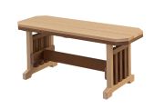 recycled poly mission bench