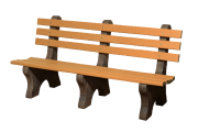 heavy duty park benches recycled plastic and concrete