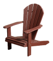 recycled poly child's adirondack chair