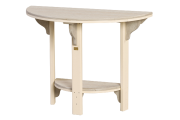 recycled poly great bay table amish made lancaster county half round