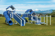 swing kingdom commercial playset playground ADA accessible turbo trek