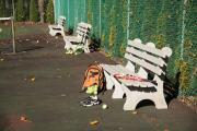 heavy duty park benches recycled plastic and concrete park walking trial sports