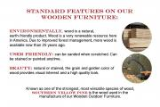 standard features on wooden furniture pressure treated yellow oine