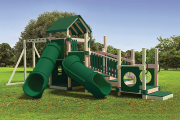 swing kingdom commercial playset playground ADA accessible turtle hideout