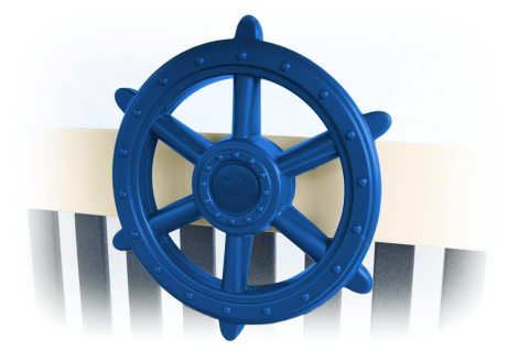 Blue Ship's Wheel
