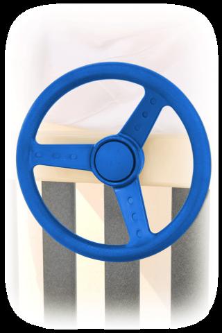 blue steering wheel