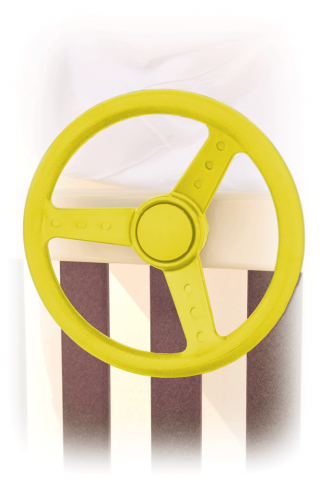 yellow steering wheel