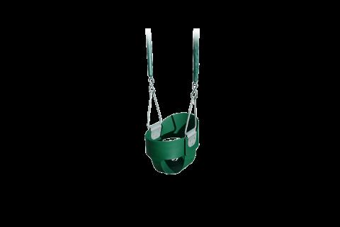 bucket swing wooden playset green