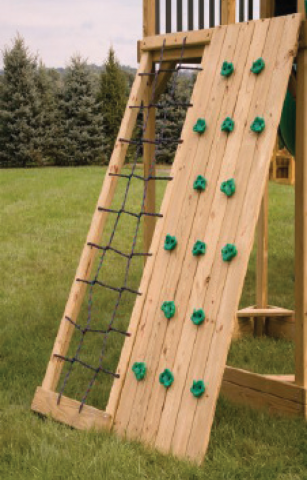 cargo net rockwall pressure treated wood