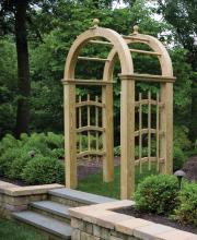Wooden Mount Vernon Arbor